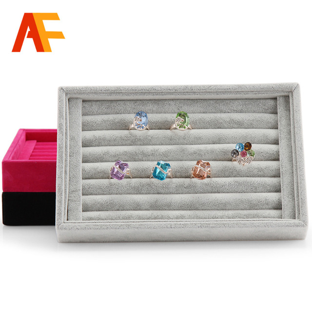 A02 2 Hot Selling Jewelry Display Tray Rings Organizer Show Case