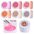 6 Colors/set Soak Off Fur Gel 5g Fur Effect Gel Polish Manicure Nail Art UV Gel Varnish Set 1-6