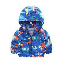Nuovi Ragazzi bambino Tuta Sportiva/Giacche Aereo Modello di Stampa Bambini Trench Pizex Bambini Hooded Zipper Topcoat Vestiti Del Fumetto Dei Ragazzi di Modo