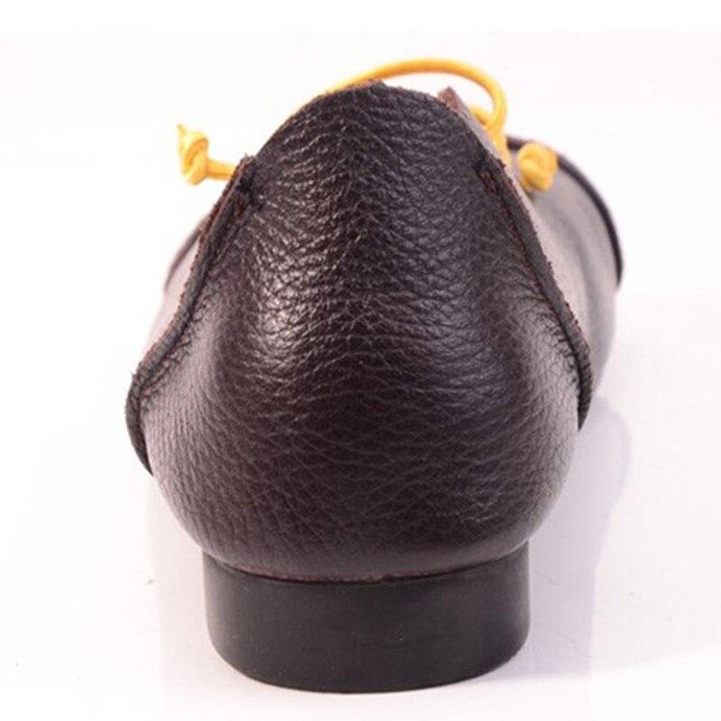 Carré Femme Bande Femmes Plat En Glissent automne Printemps Chaussures Yaerni Dames Plates Cuir Sur Mocassins Véritable Bout Bleu Élastique ZiOwPkuTXl