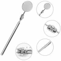 Round Mirror Extending Car Angle View Pen Automotive Telescopic Detection Lens Inspection Hand Tools