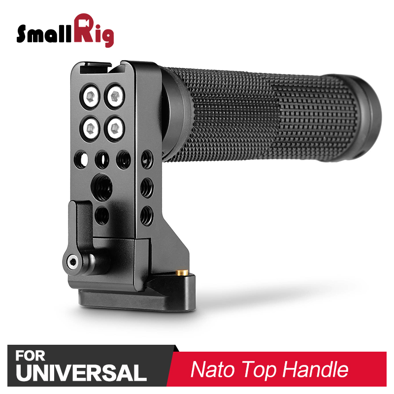 SmallRig DSLR Camera Handle Grip Video Shooting QR Quick Release Nato Hand Barcket Rubber for Sony