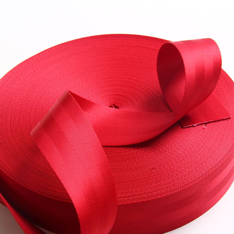 лямки автомобильного ремня безопасности, 50 мм ремня безопасности, нейлоновый ремень безопасности ремень безопасности бесплатная доставка 1.2 мм толщина красный цвет 2 дюймов нейлоновой ленты