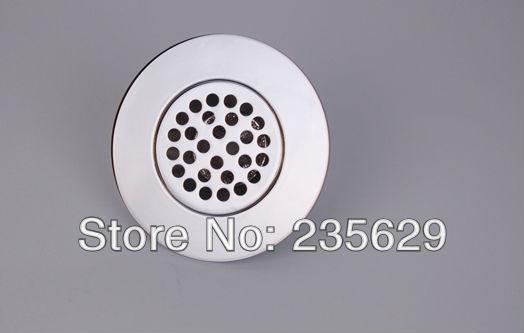 Free Shipping, Chrome Plated Surface Brass floor drain,Anti odor, Anti water backing, Anti virus, Diameter is 44mm