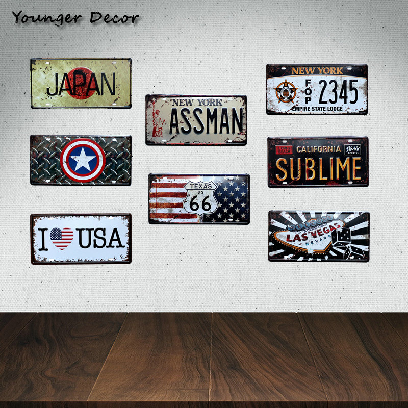 Aliexpress.com : Buy New York Assman Home Wall Decor Metal
