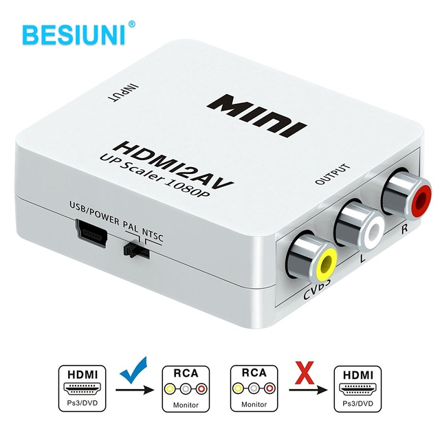 Hdmi To Rca Converter Hdmi To Av Adapter Android Tv Smart