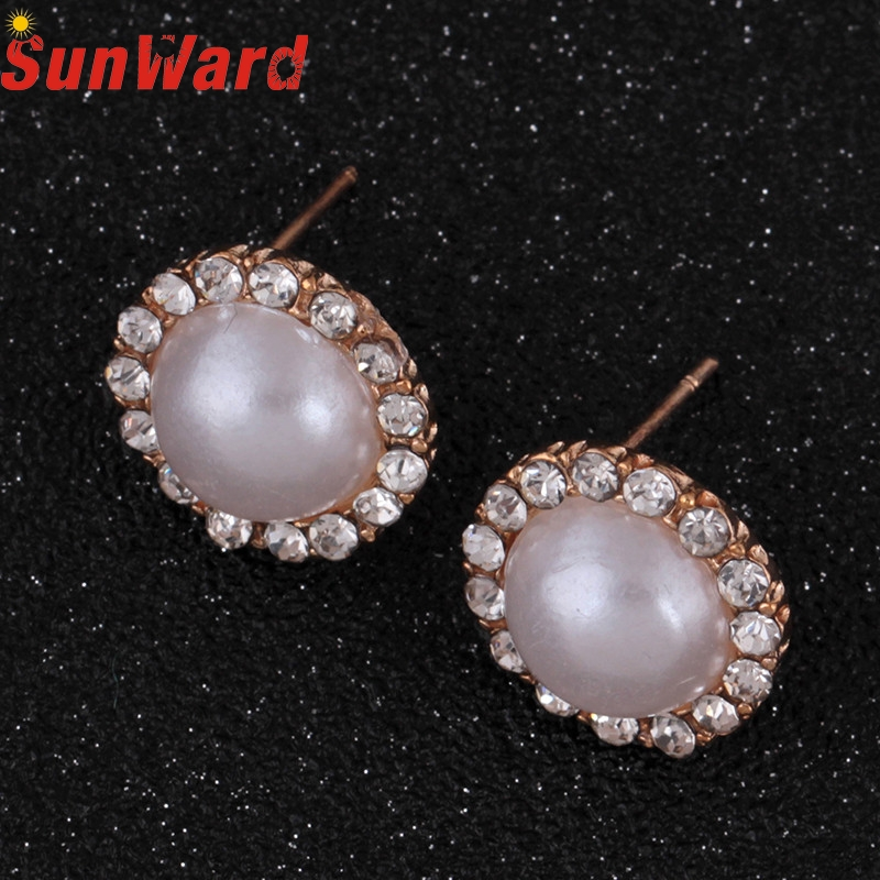 OTOKY 2018 Hot Sale 6 pairs Fashion Pearl Studded Small Ear Nail Hollowed Out Pattern Earrings Dropshipping Mar20