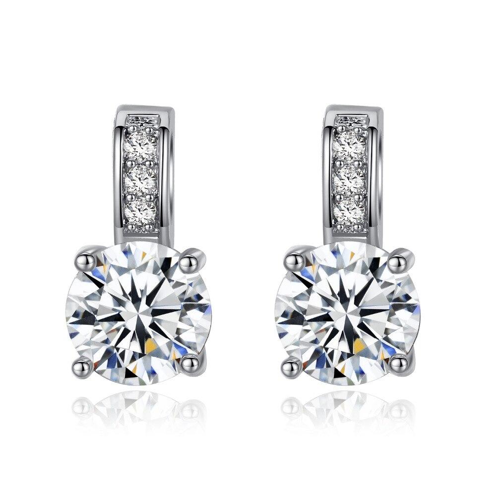 Clean Diamond Stud Earrings