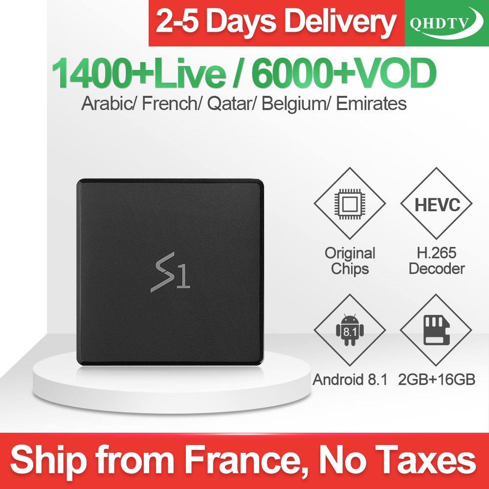 S1 IP TV Box 1 Year QHDTV IPTV Code Arabic Europe French FULL HD 4K IPTV Subscription Smart TV Box Android 8.1 Italy IPTV FranceS1 IP TV Box 1 Year QHDTV IPTV Code Arabic Europe French FULL HD 4K IPTV Subscription Smart TV Box Android 8.1 Italy IPTV France