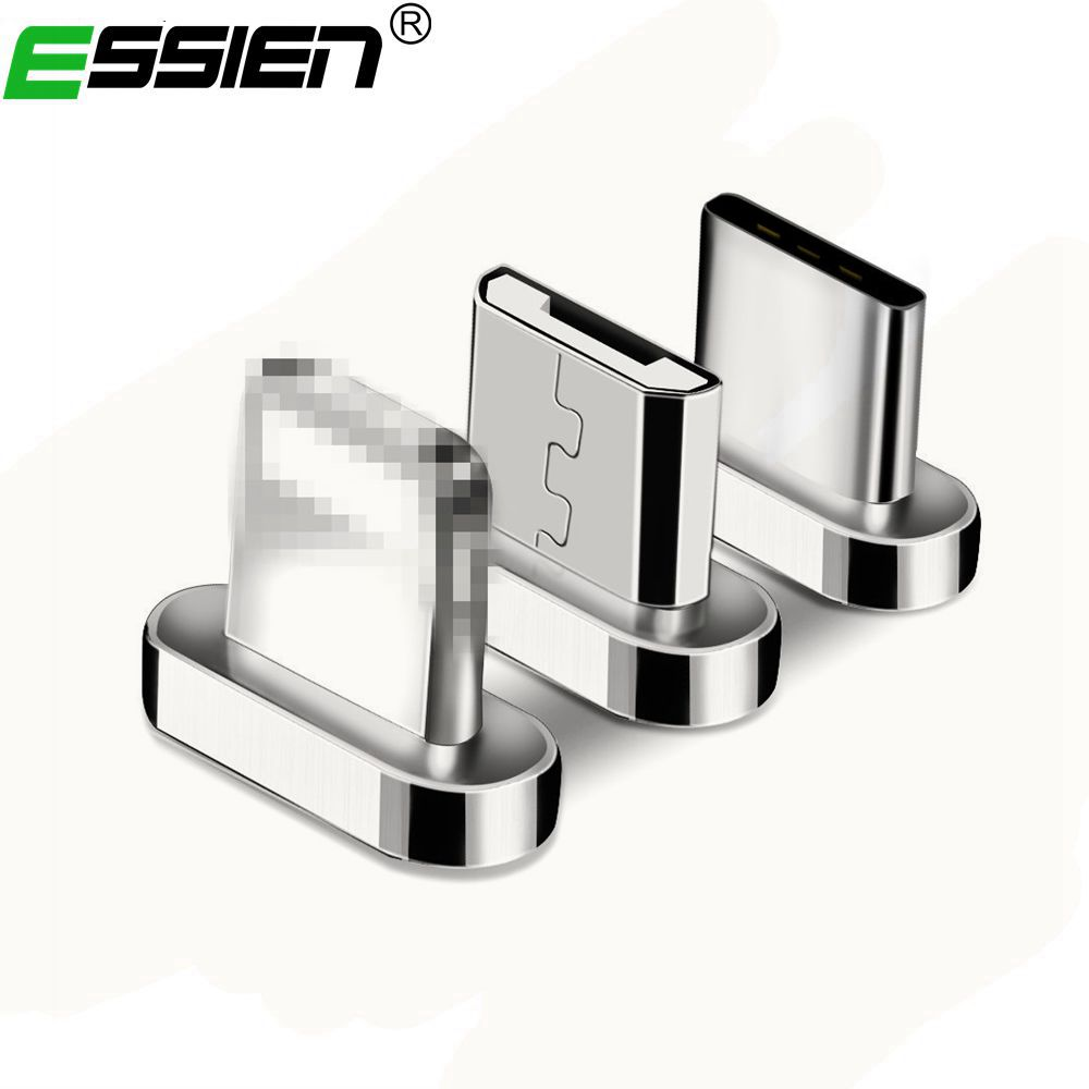 Essien Micro USB Port Magnetic Adapter Charger For Iphone & Android Type C Micro USB Charging Connector For usb charger
