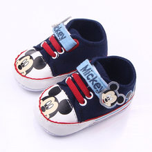 Brand Baby Sneakers Toddler Boy First Walkers Bebe Sapatos Girl Newborn Baby Shoes Boy Chaussure Fashion Mickey Shoes(China)