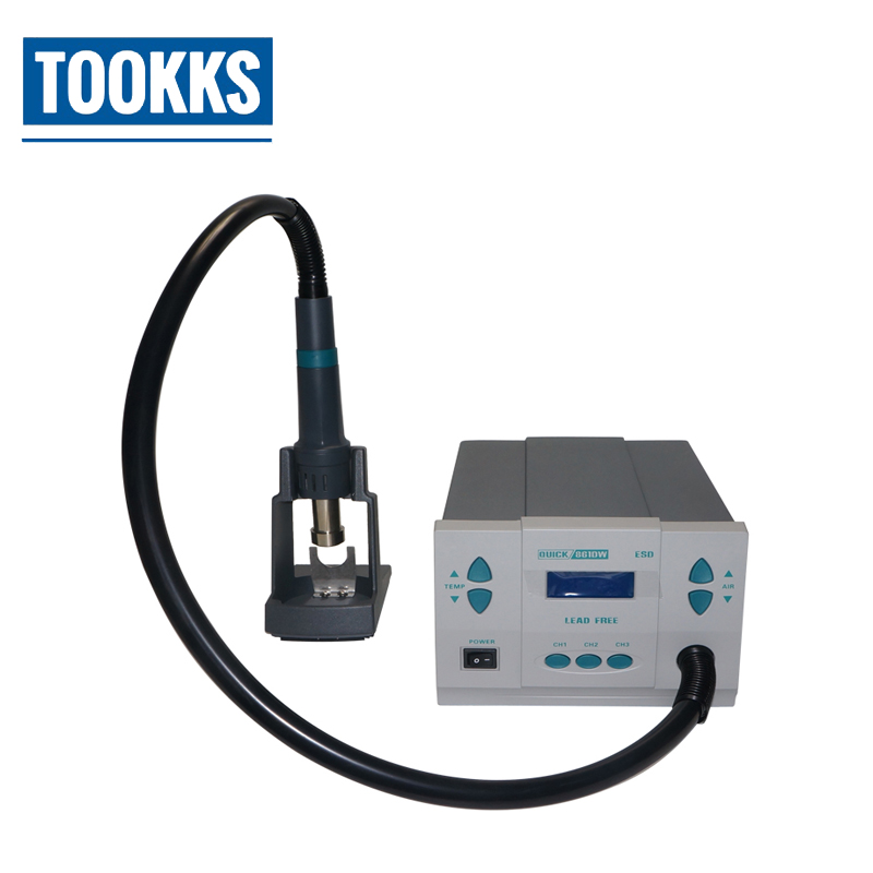 Original Quick 861DW Hot Air Soldering Rework station Lead-free Soldering Machine For Phone Chips Computer Motherboard Repair original quick 861dw hot air rework station 1000w 220v heat gun lead free soldering station fix phone repair bga chip ic tools