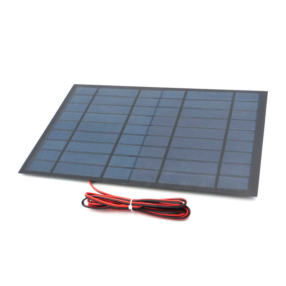 Polycrystalline Solar Panel 9V 10W + 200cm extend cable DIY Battery Charger Module Mini Solar Cell wire toy