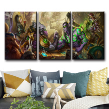 Home Decor Modular Canvas Picture 3 Piece WOW DOTA 2 Classic Game Painting Poster Wall Art For Wholesale