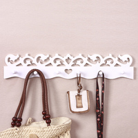 Free Ship White Coat Hook Modern Brief Love Wall Decoration Wall Hangers Vintage Wall Hookhigh Quality