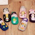 New Fashion Korean Style Stamp Socks Cute Soft Cotton Baby Children Slip Socks Sock
