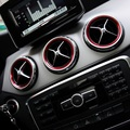 5 pcs Aluminium alloy Air outlet sticker/Instrument panel Air outlet decoration ring Fit for Mercedes Benz A/B/GLA/CLA Class