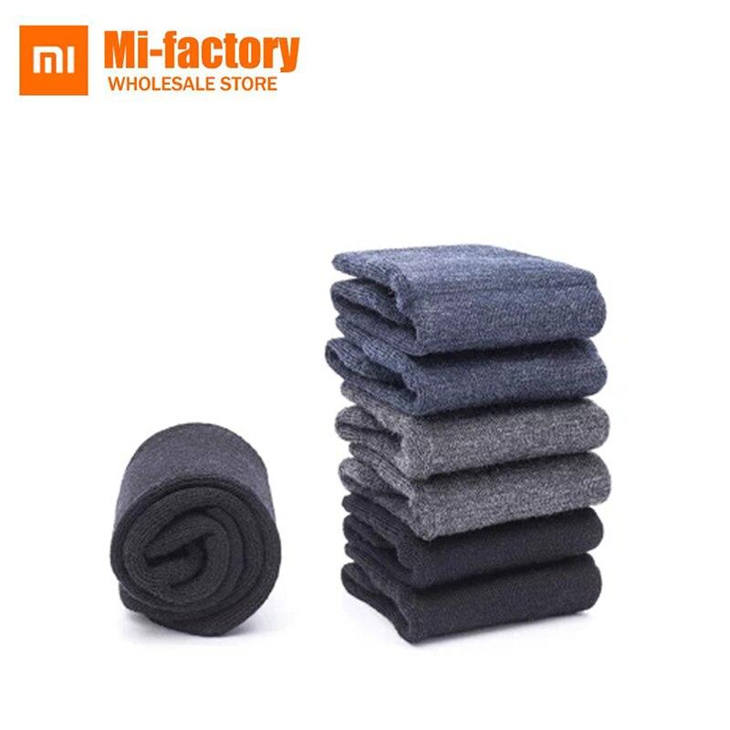 Men's Socks Tireless 1 Pair 5 Colors Hot Winter Warm Vintage Men Knit Crochet Cotton Soft Thick Socks
