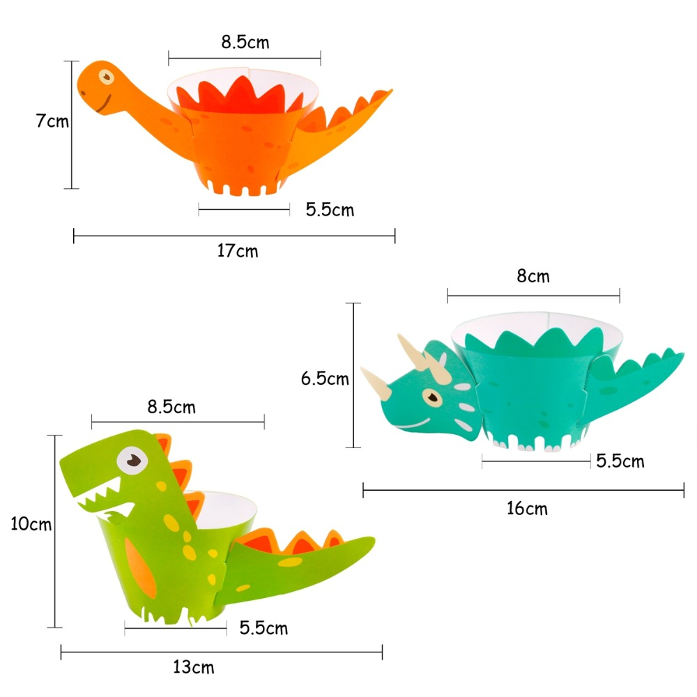 FengRise 12pcs Animal Cupcake Wrappers Jungle Party Cake Decor Cup cake Dinosaur Safari Animal Birthday jungle party decorations in Cake Decorating Supplies from Home Garden