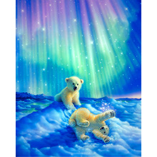 Full Square/Round Drill 5D DIY Diamond Painting Polar bear baby 3D Embroidery Cross Stitch Mosaic Rhinestone Home Decor