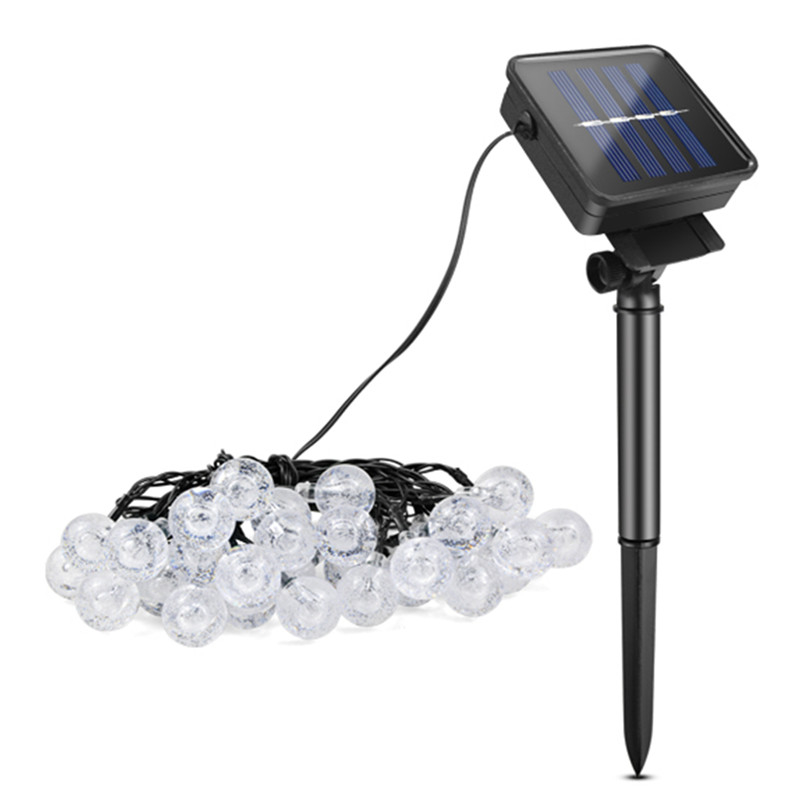 cheapest 5M 7M 10M Solar Lamp Crystal Ball LED String Lights Flash Waterproof Fairy  For Outdoor Garden Christmas Wedding Decoration