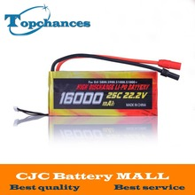 High Quality 16000mAh 6S1P 22.2V 25C LiPo Battery for Drone DJI S800 S900 S1000 helicopter
