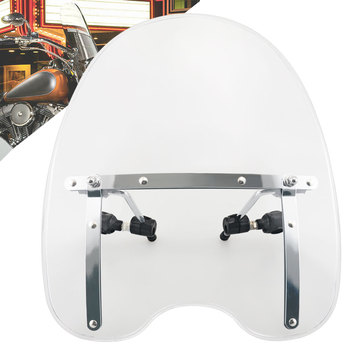 "Motorcycle 17""Acrylic Windshield Windscreen w/ Mounting Hardware Handlebar Fits For Harley Sportser Softail Touring"