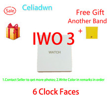 Смарт-часы IWO 3 частоты сердечных сокращений SmartWatch IWO 2 обновления 1:1 3rd часы музыкальный плеер с Бесплатная ремешок для IOS Android VS IWO 2