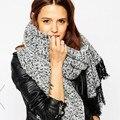 Las borlas de la bufanda estilo za para la mujer moda alta calidad de dicha cantidad 200 * 70 cm espesar 360 g