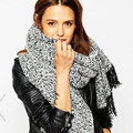 tassels scarf za style for fashion women high qualtiy 200*70cm thicken 360g