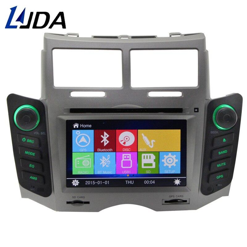 LJDA 2 Din Car DVD Player For Toyota Yaris 2005-2011 Bluetooth Radio GPS Navigation Bluetooth Audio FM RDS Multimedia Headunit