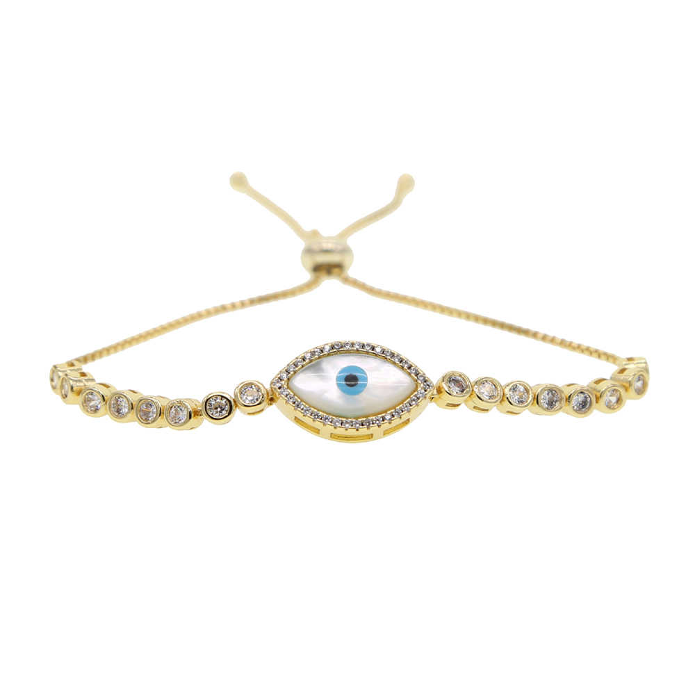 Moda konstrukcja Micro Pave CZ powłoki oczu mężczyzn lub kobiet Charm bransoletka pleciona sieć tenisowa bransoletki biżuteria prezent hurtownie