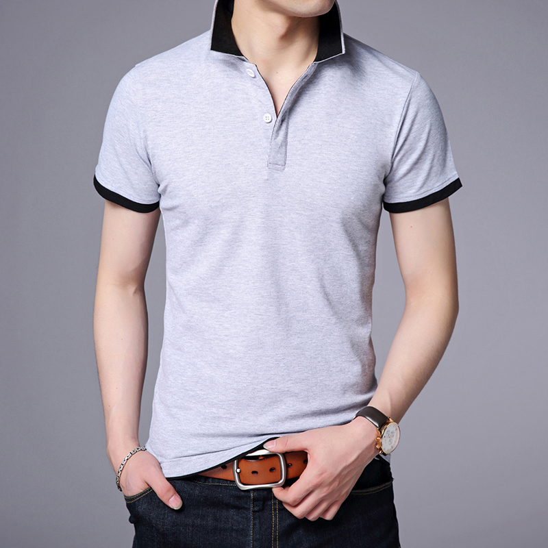 2019 New Fashion Brand   Polo   Shirt Men's Solid Color Summer Slim Fit Short Sleeve Boyfriend Gift Boys   Polos   Casual Men Clothing
