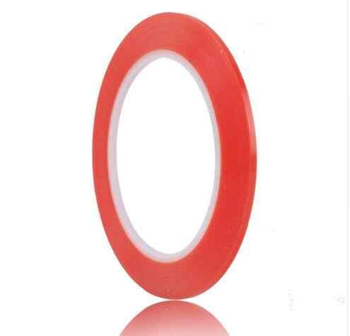 3 мм * 25 м красная Двухсторонняя клейкая лента для ПК мобильного телефона ЖК-экран супер сильная клейкая лента для ремонта ультра тонкая