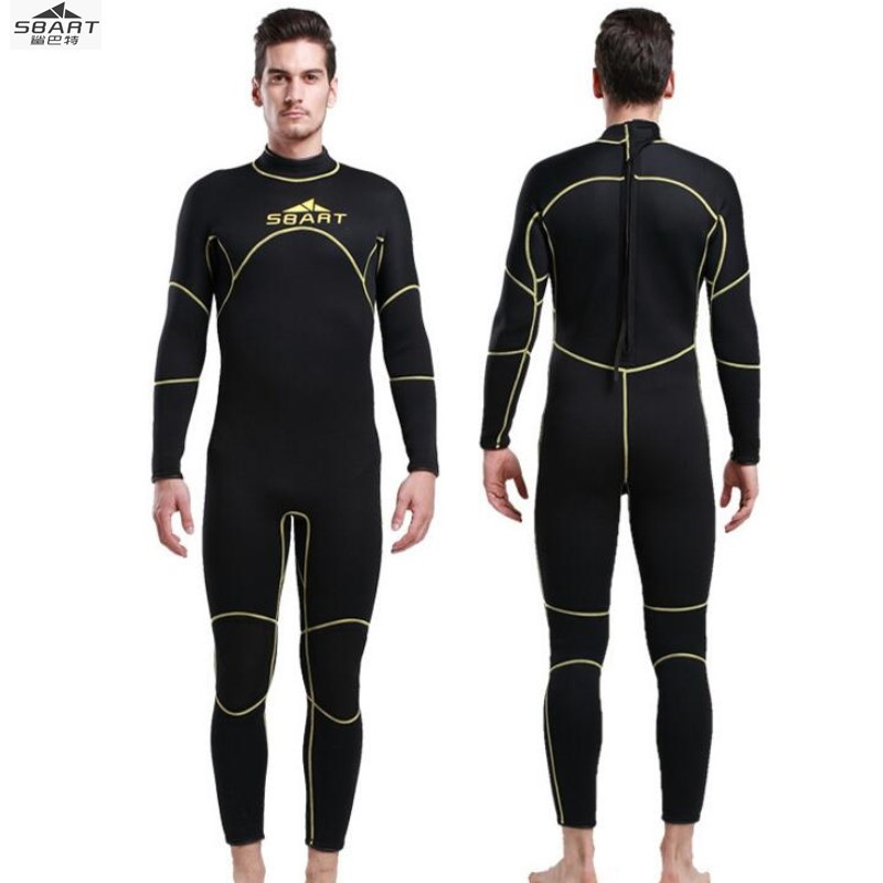 Sbart 1016 3MM surfing wetsuit warm winter swimming suit suit one-piece male long sleeved jellyfish thickened snorkeling suit sbart upf50 rashguard 2 bodyboard 1006