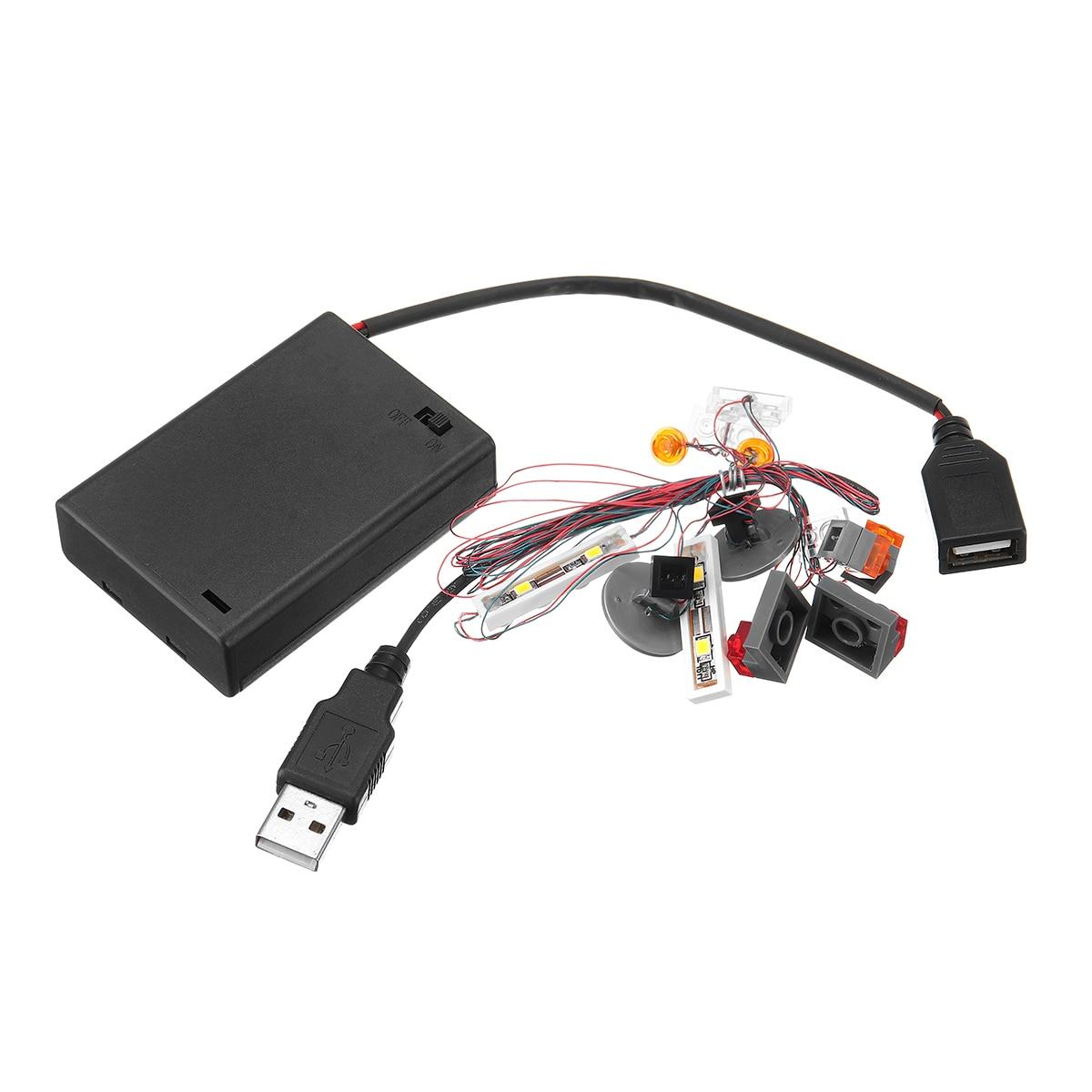 DIY LED Light Lighting Kit ONLY For Lego For 10252 For Volkswagen Beetle Model  Luminous Electronic Parts Kit