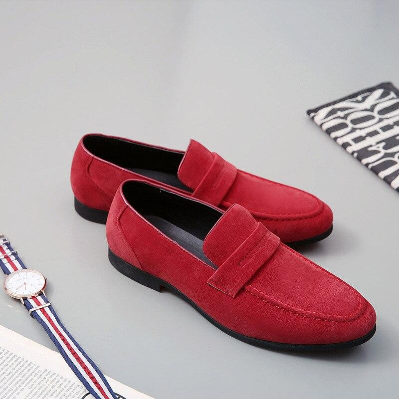 Nouveau Cuir chaussures hommes décontractées Élégant D'affaires Lumineux De Mariage En Cuir appartements d'entraînement Rétro Glissement sur Oxford Chaussures pour Hommes Taille 38-48