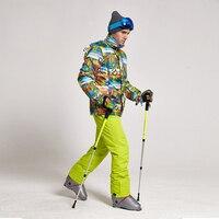 Лыжный костюм Для мужчин зима 2018 Термальность Водонепроницаемый ветронепроницаемая одежда зимние Штаны Лыжная куртка Для мужчин комплект