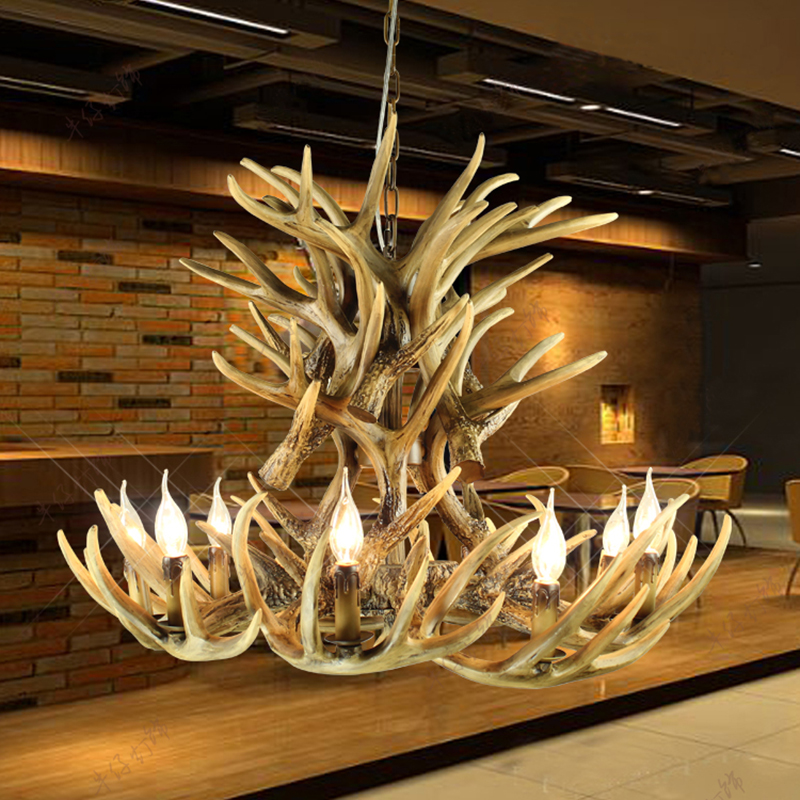 American vintage antlers pendant light luxury lighting modern american vintage antlers pendant light luxury lighting modern european decorative antler pendant lighting free ems shipping in pendant lights from lights aloadofball Choice Image