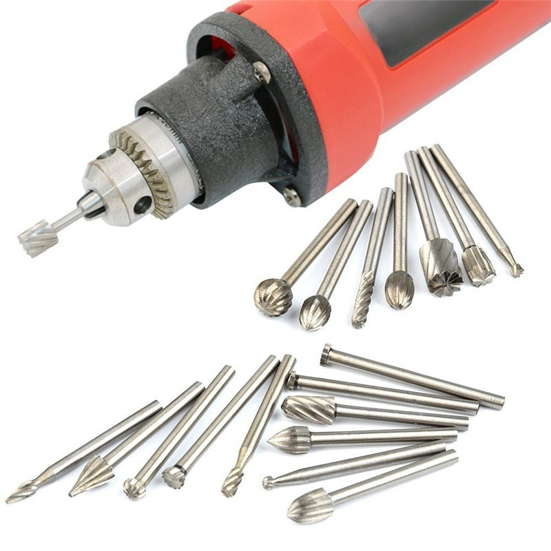 High Speed HSS Routing Router Bits Burr Rotary Tools Suit Dremel & Rotary Tool Engraving Wood Working Tools Attachment