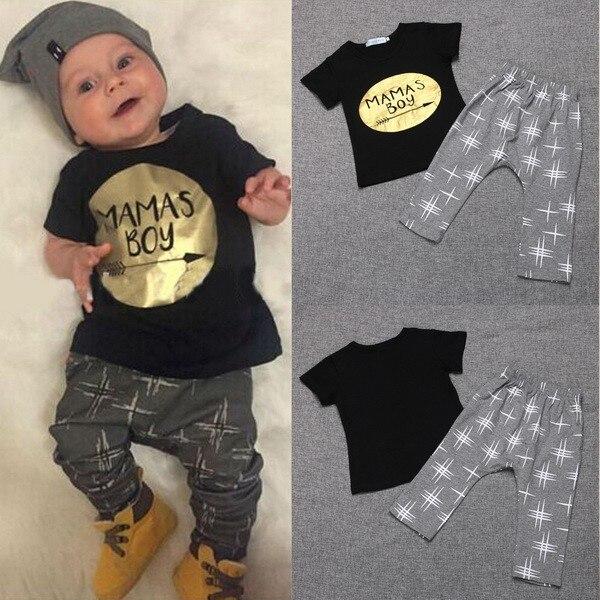 2016 Short O-neck Regular Minnie Mouse New Kids Newborn Toddler Baby Boy Summer T-shirt Tops+pants Cotton Clothes Outfits Set