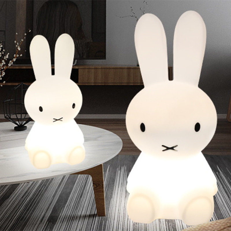 80CM Rabbit Led Night Light Dimmable for Baby Children Kids Gift Animal Cartoon Decorative Lamp Bedside Bedroom Living Room rabbit lamp led table light for baby children kids gift animal cartoon decorative lighting bedside desk bedroom living room