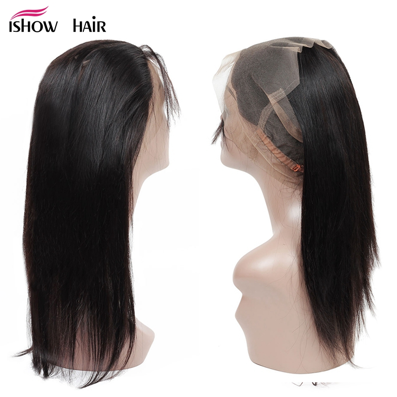 Ishow 360 Lace Frontal Closure Pre Plucked With Baby Hair Brazilian Straight Non Remy Human Hair