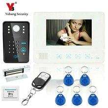 YobangSecurity 7″Inch Lcd RFID Password Video Door Phone Intercom System Wth IR Camera Remote Access Control System Door Lock