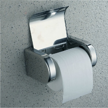 Durable Stainless Steel Toilet Paper Holder Tissue Holder Roll Paper Holder Box Bathroom Accessories