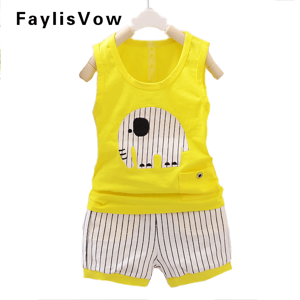 Clearance Baby Elephant Clothing Set Sports Suits for Boys Black and White Stripes Clothes Casualroupa menino ensemble garcon