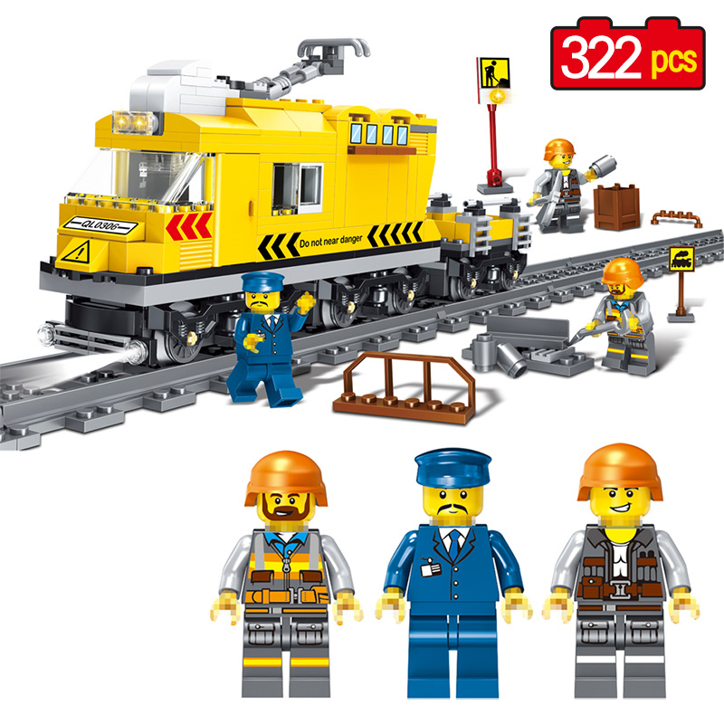 Train Series Building Blocks Compatible legoINGLY Technic City Street View Figures Bricks Blocks Birthday Gift Toys For Children compatible lepin city mini street view building blocks chinatown satin silk store with saleman figures toys for children gift