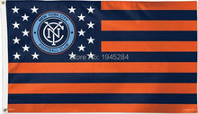 New York City FC with US Stars Stripes Flag Banner New 3x5ft 90x150cm Polyester Flag Banner MLS,  free shipping