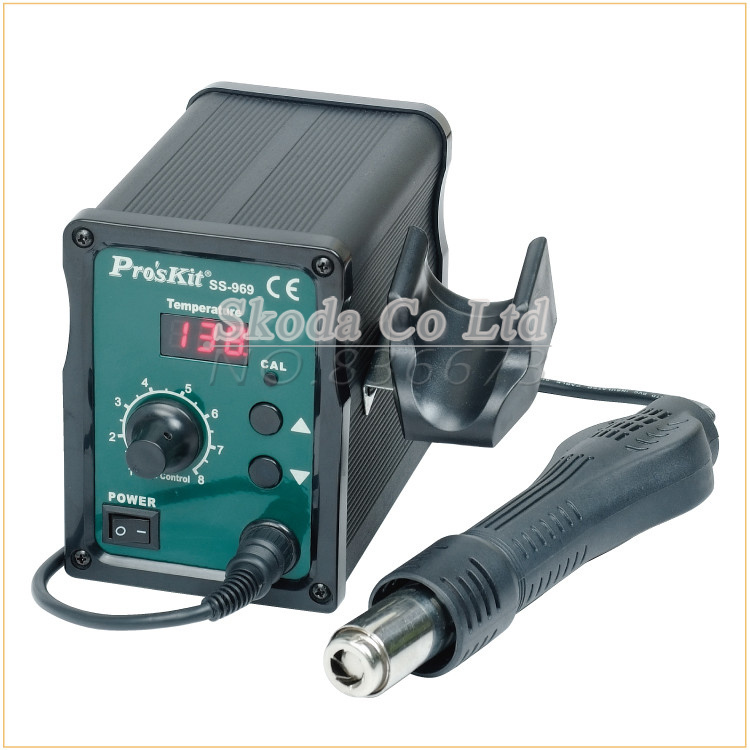 Brand Pros'kit SS-969 SMD Rework Station Preheater,Advanced Hot Air Soldering Station(220V/700W) BGA Welding Digital Display  цены