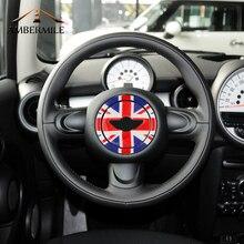 AMBERMILE 3D рулевого колеса автомобиля центр наклейки украшения Наклейка для Mini Cooper Countryman R55 R56 R57 R58 R60 R61 аксессуары